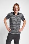 19Y-1169 Siyah Erkek Kısa Kollu Polo Yaka T-Shirt
