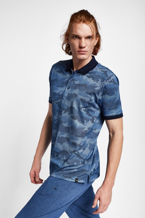 19Y-1169 Lacivert Erkek Kısa Kollu Polo Yaka T-Shirt