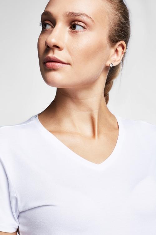 Beyaz Kadın T-Shirt 20S-2202-20B