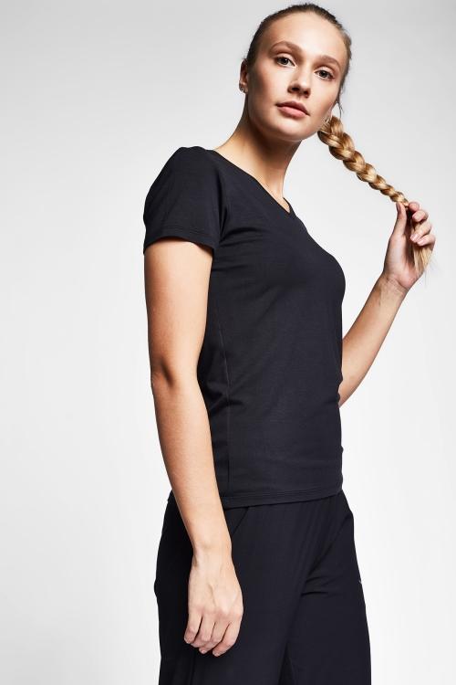Siyah Kadın T-Shirt 20S-2202-20B