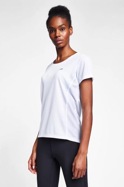 Beyaz Kadın T-Shirt 20S-2204-20B