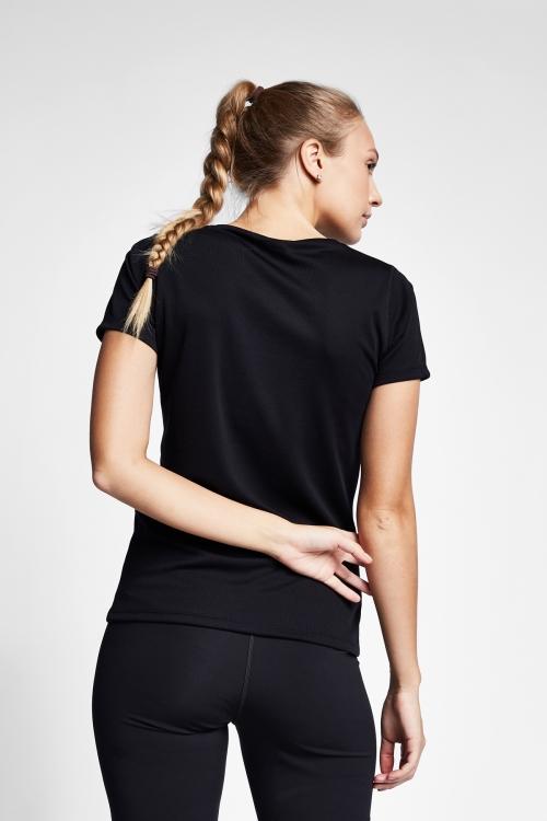 Siyah Kadın T-Shirt 20S-2204-20B