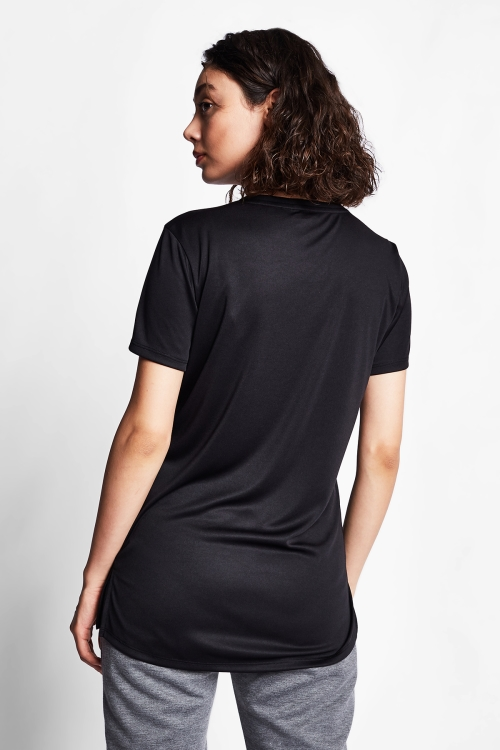 Siyah Kadın T-Shirt 20S-2208-20B