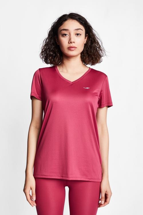 Nar Kırmızısı Kadın T-Shirt 20S-2208-20B