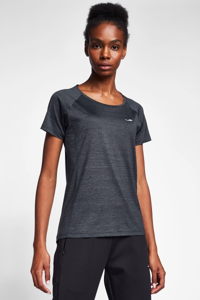 20B-2004 Women Running T-Shirt Black