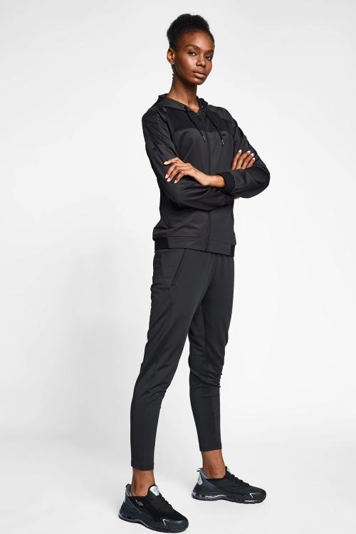 Siyah Kadın Kapüşonlu Üst 20B-2015