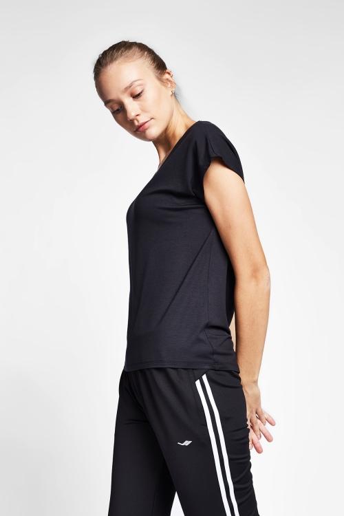 Siyah Kadın T-Shirt 20B-2027