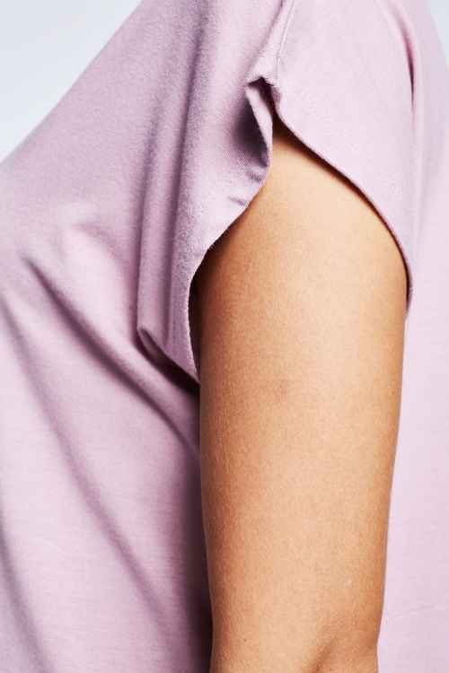 Lila Kadın T-Shirt 20B-2027