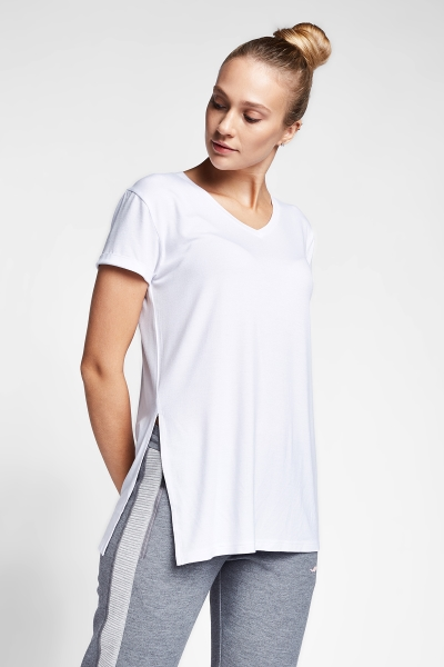 20B-2028 Women Exercise T-Shirt White