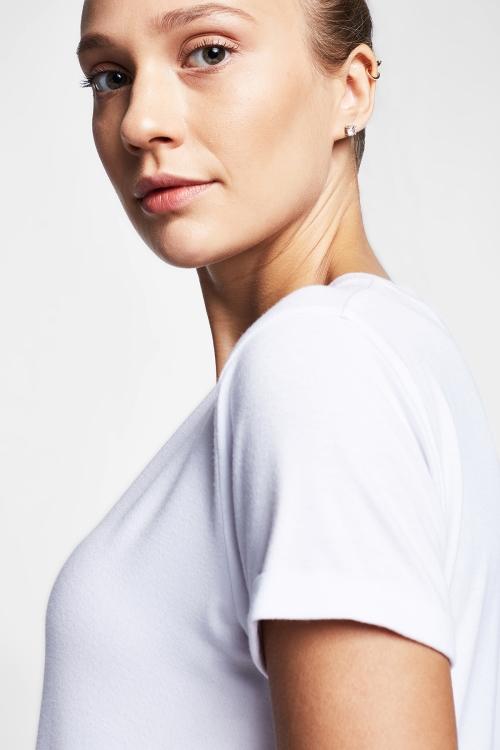Beyaz Kadın T-Shirt 20B-2028