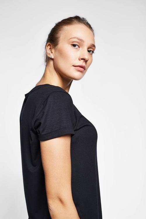 Siyah Kadın T-Shirt 20B-2028