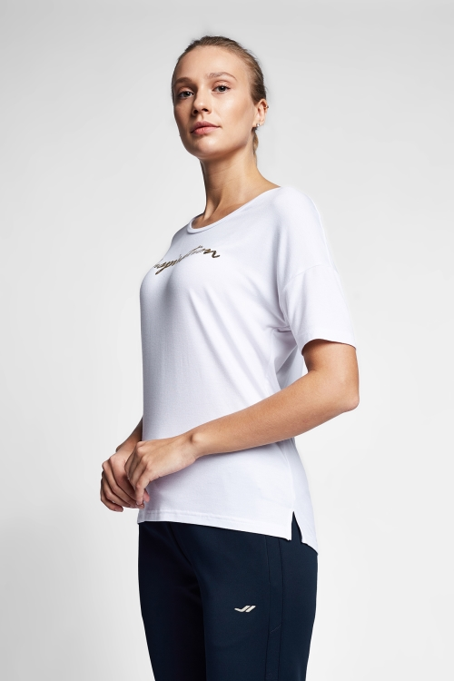 Beyaz Kadın T-Shirt 20B-2103