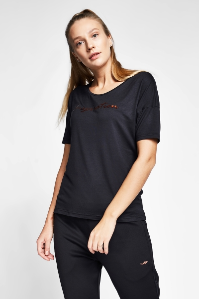 20B-2103 Women Short Sleeve TShirt Black