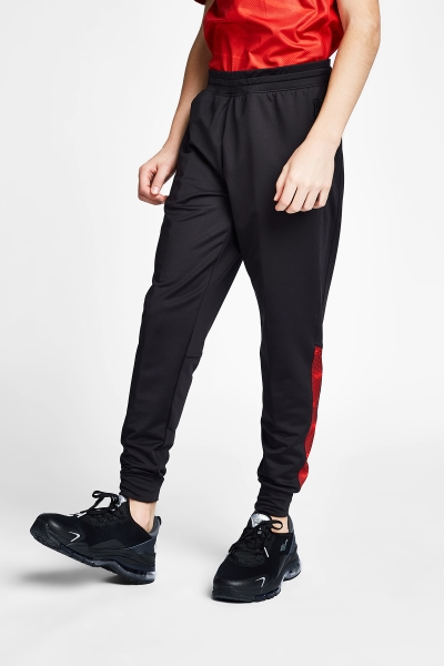 20B-3016 Kid Exercise Sweat Pants Siyah_Red