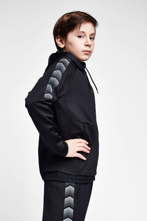 Siyah Çocuk Kapüşonlu Üst 20B-3112