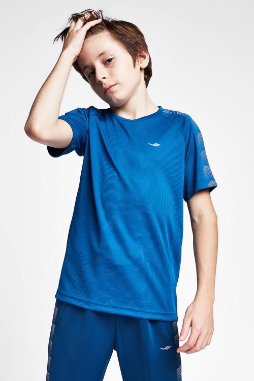 Petrol Mavi Çocuk T-Shirt 20B-3131
