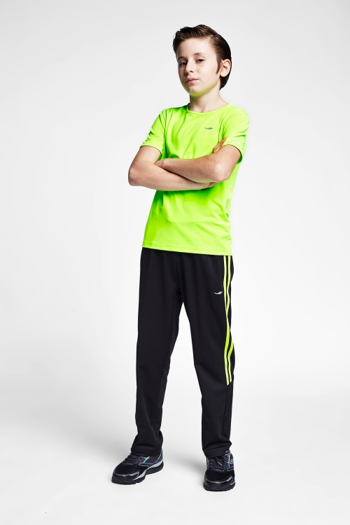 Siyah Neon Yeşil Çocuk Eşofman Alt 20B-3137