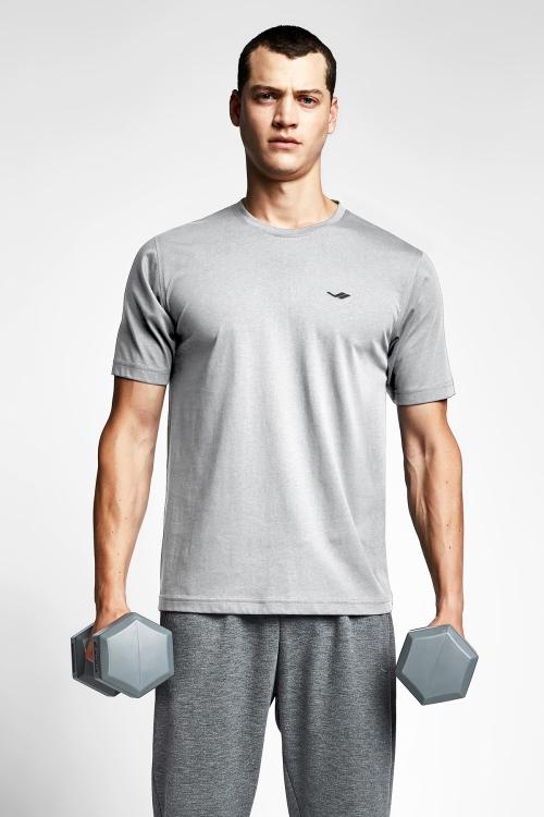 Gri Melanj Erkek T-Shirt 20S-1202-20B