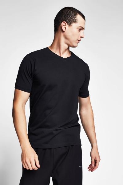 20S-1246-20B Men Short Sleeve TShirt Black
