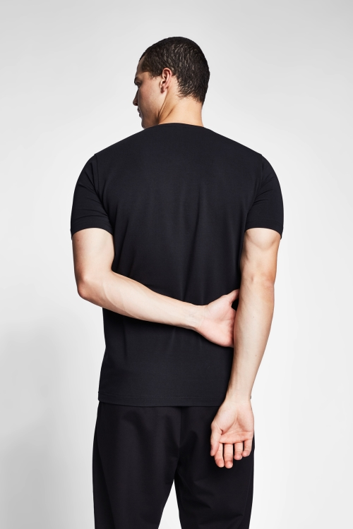 Siyah Erkek T-Shirt 20S-1246-20B