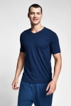 Safir Mavi Erkek T-Shirt 20S-1246-20B