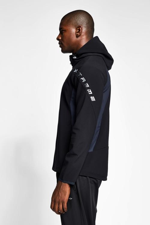 Siyah Erkek Kapüşonlu Üst 20B-1001