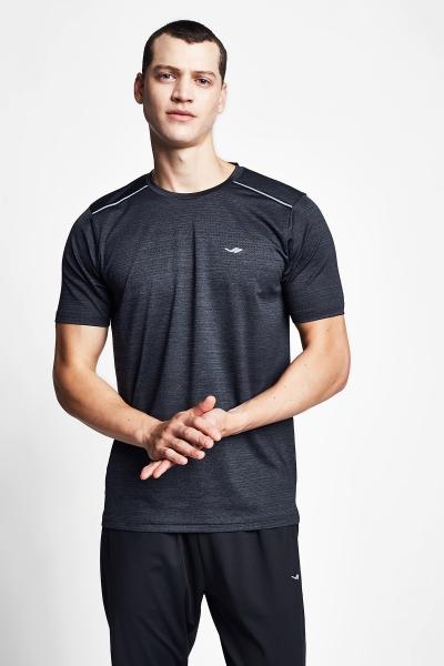 20B-1007 Men Running  T-Shirt Black