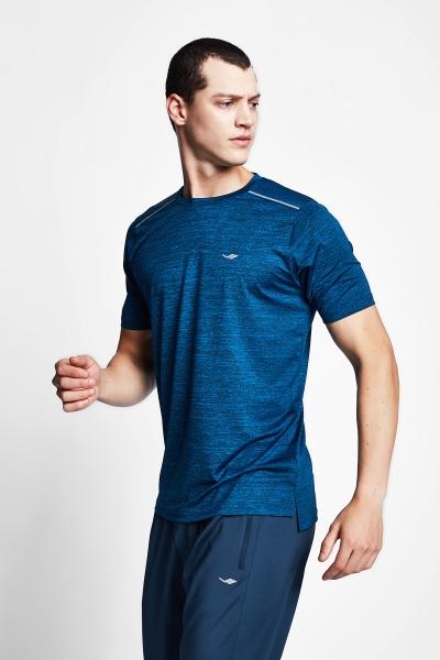 20B-1007 Men Running Short Sleeve Tshirt Navy