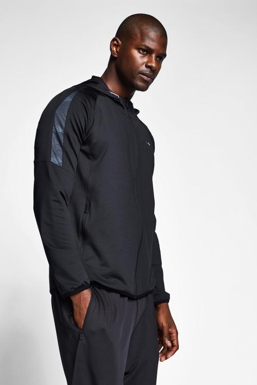 Siyah Erkek Kapüşonlu Üst 20B-1015