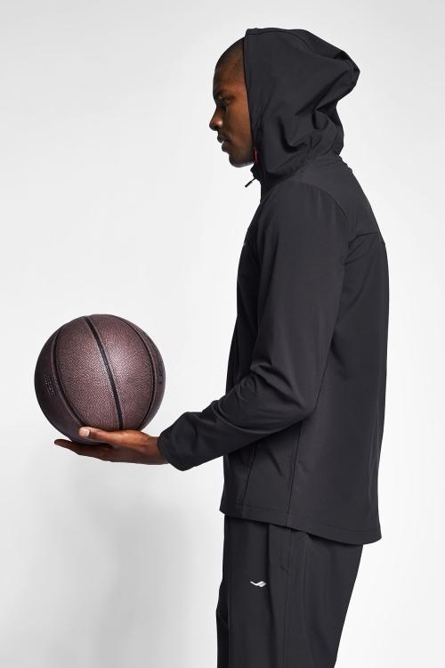 Siyah Erkek Kapüşonlu Üst 20B-1025