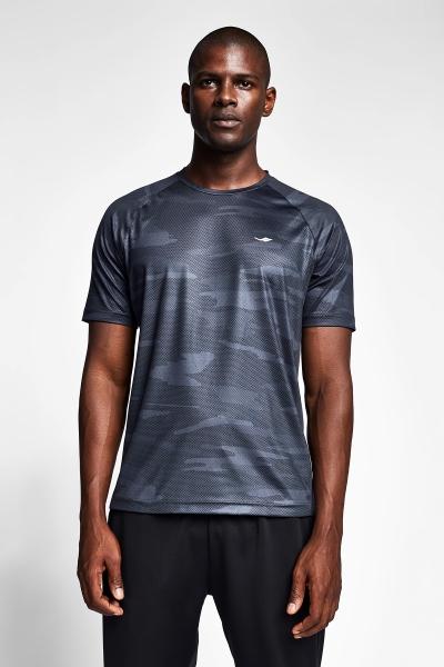 20B-1033 Men Exercise Short Sleeve Tshirt Grey