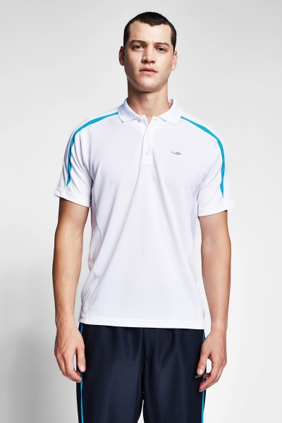 20B-1047 Men Short Sleeve Polo Collar TShirt  White