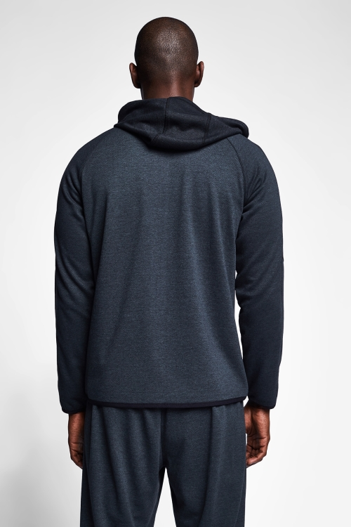 Siyah Erkek Kapüşonlu Üst 20B-1107