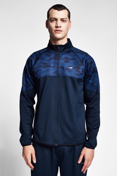 20B-1110 Men Zip Top Navy