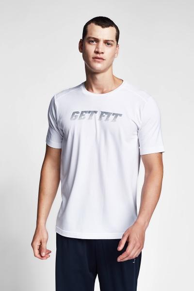 20B-1140 Men Short Sleeve TShirt White