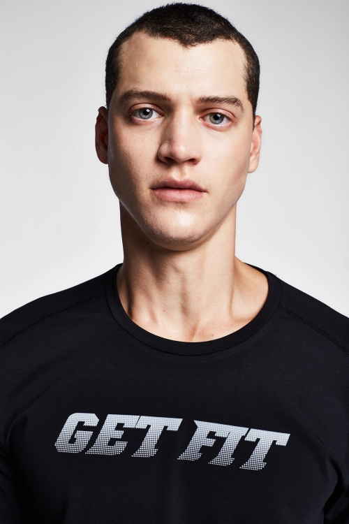 Siyah Erkek T-Shirt 20B-1140