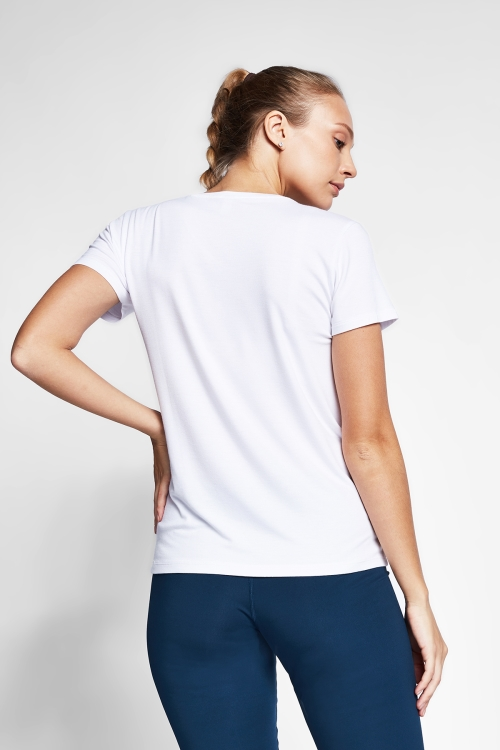Beyaz Kadın T-Shirt 20S-2202-20N