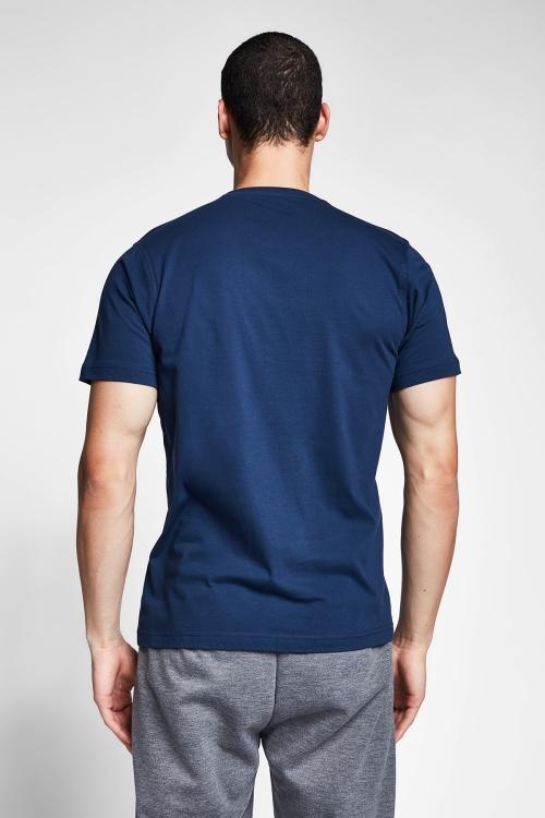 Safir Mavi Erkek T-Shirt 20S-1202-20N