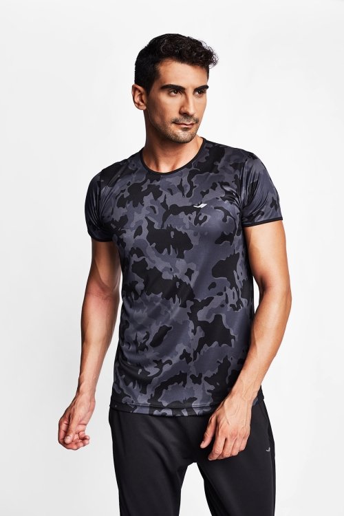 Siyah Erkek Kısa Kol T-Shirt 20S-1219