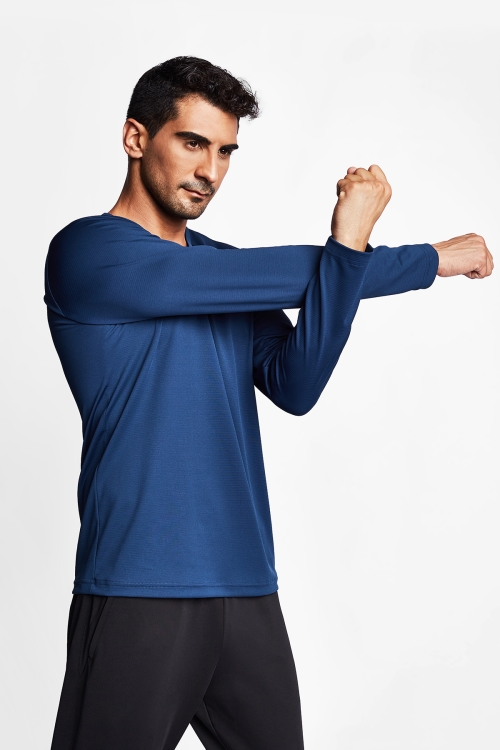Kozmik Safir Erkek Uzun Kol T-Shirt 20S-1225