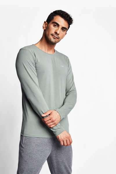 Haki Erkek Uzun Kol T-Shirt 20S-1236
