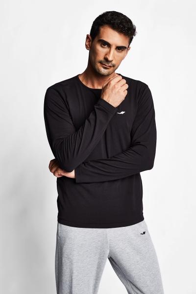 Siyah Erkek Uzun Kol T-Shirt 20S-1236
