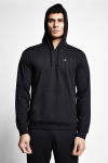 20S-1239-20N Men Hooded Swearshirt Black