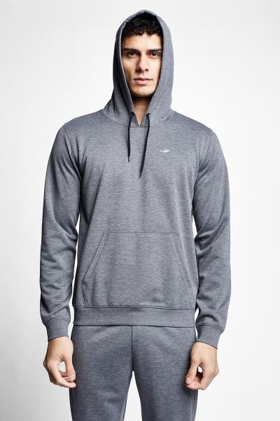 20S-1239-20N Men Hooded Swearshirt Grey