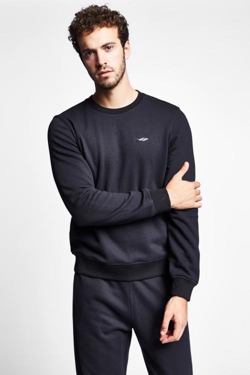 Siyah Erkek Sweatshirt 20S-1242-20N