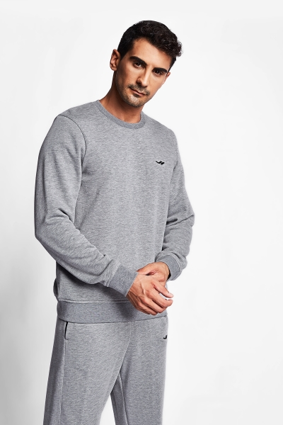 20S-1242-20N Men Sweatshirt Grey