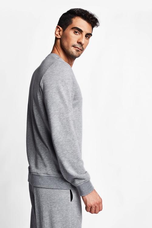 Koyu Gri Melanj Erkek Sweatshirt 20S-1242-20N