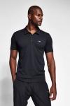20S-1297-20N Men Short Sleeve Polo Collar TShirt  Black