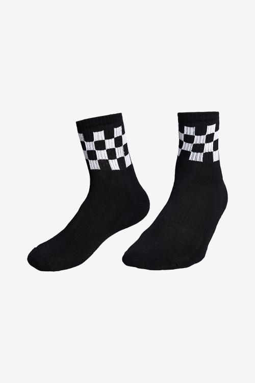 La-3159 Siyah Tekli Tenis Çorap 40-45 Numara