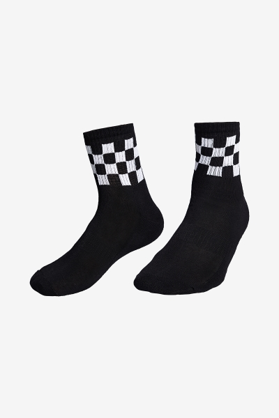 La-3159 Siyah Tenis Çorap 40-45 Numara